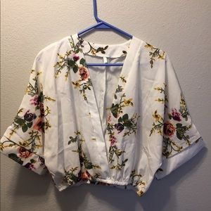 Brand new SHEIN floral crop top